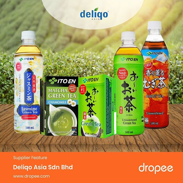 Known as a powerful antioxidant agent along with its numerous health benefits, it is not a surprise then why green tea is loved by many. . With that said, our new featured supplier of the day, Deliqo Asia Sdn Bhd is one of the biggest green tea drink suppliers in Malaysia. . Offering authentic Japanese green tea drinks, the product quality is ensured through a fine technique of blending process made with Japanese premium Sencha leaves. .  Get their supplies of unsweetened and naturally flavoured green tea drinks (bottle), and matcha green tea (bag) on Dropee.com at wholesale prices today! . Check out the official store by browsing this link here - http://bit.ly/2yYS364 . #JapaneseGreenTea #DelicoAsia #Dropee #newsupplier #announcement #unsweetened #sencha #B2BeCommerceMarketplace #wholesale #supplyonline