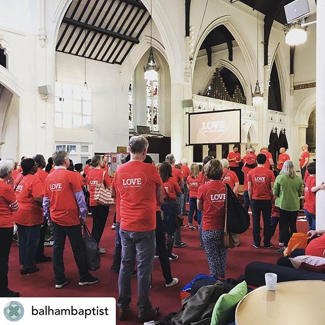 Posted @withrepost • @balhambaptist Love Balham day!! . Kicking off with brekkie and prayer 🙏😋 before a day blessing all over our community! . #balham #church #love #blessing