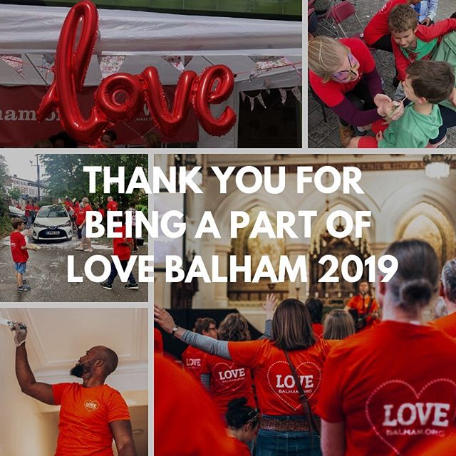 Whether you volunteered, came along to one of our activities or simply prayed for us we want to say a big thank you for being part of Love Balham 2019! #lovebalham2019