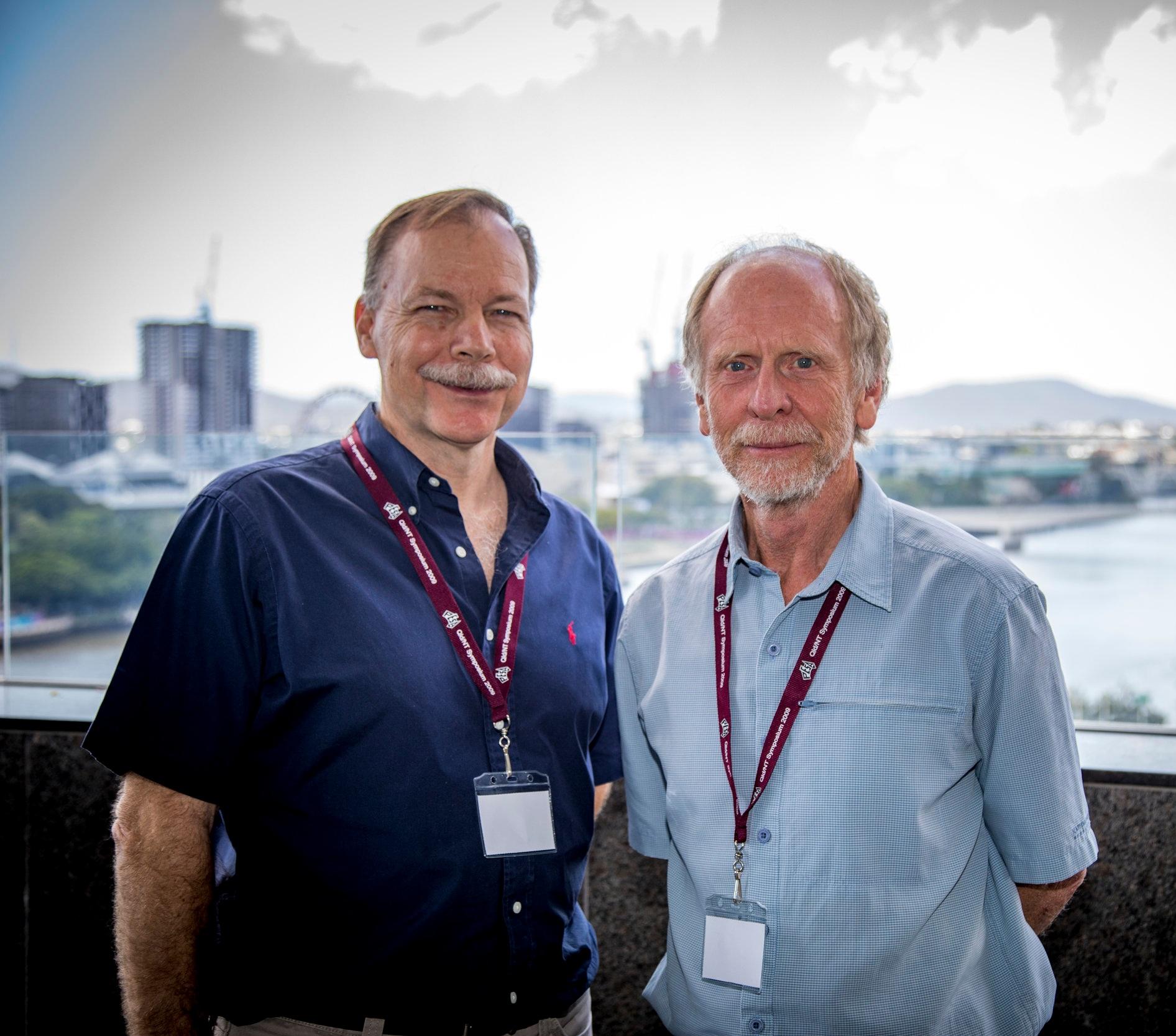 Professor David Gust (left) and Professor Richard Arculus (Right).  Image courtesy of QUT SEF COMMS .