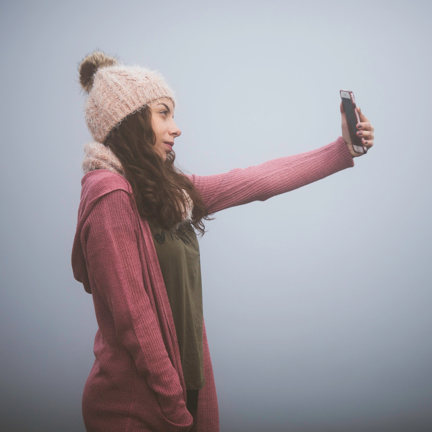 TAKE PHOTOS - Take front and side photos of your face.