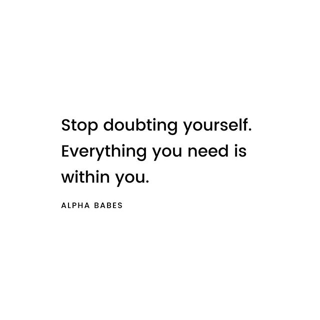 Honestly. Self-doubt is a 🤬. . We ALL struggle with it from time to time. Take back your power by knowing that what you need to move forward in your life is already within you. . You do have the answers. You are smart enough. There are solutions everywhere. You got this girl . . #selfdoubt #yougotthis #powerwithin #courage #belief #iam #alphababe #mindsetshift #reflection #lifequotes