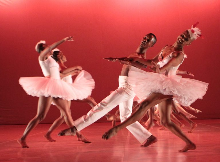Dada Masilo's 'Swan Lake' as previewed at the Dance Factory in Newtown, Johannesburg. Photograph : John Hogg.