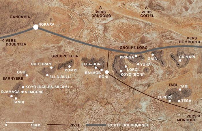 Carte de la Commune de Haïré (Chef-lieu : Boni)