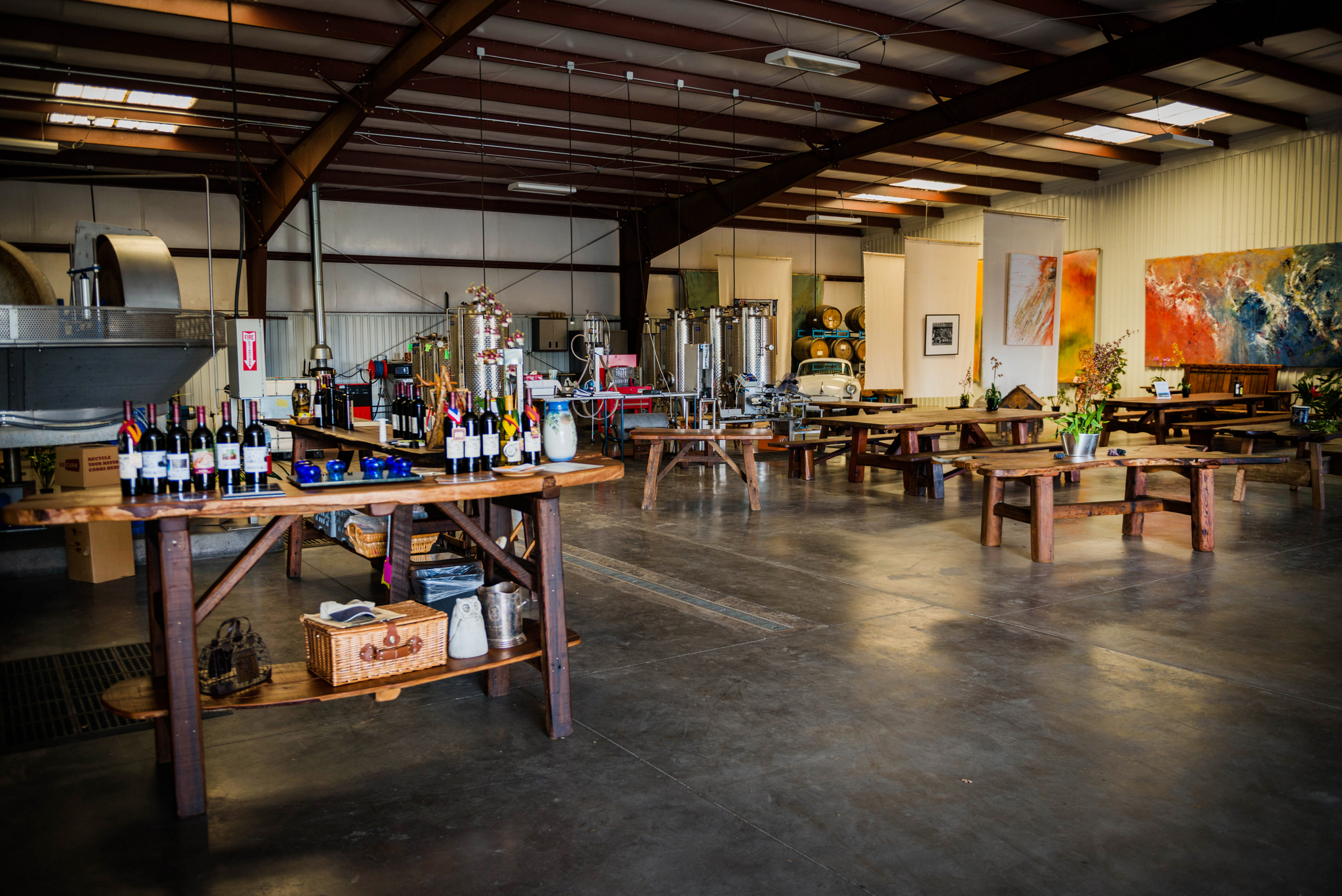 THE TASTING ROOM, OLIVE MILL, AND ART COLLECTION