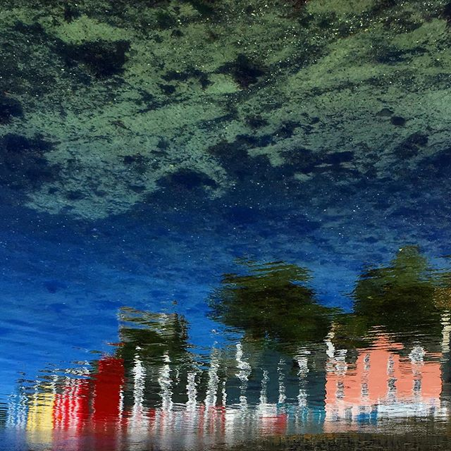 Spending time looking out across the water in the search of an elusive fin can reveal a whole world of hidden views. And because we're feeling a bit arty today, we think the rainbow-coloured buildings of Tobermory reflected here in the bay look like they're sitting beneath a Milky Way of watery white sand...👨‍🎨 - - - - - - - - - #visitscotland #hiddenscotland #hebrideanwhaletrail #hwdt #whalewatching #wildlifewatching #visitmullandiona #hebrides #natureblogger #thisisscotland #calmac #lonelyplanet #guardiantravelsnaps #scotsmagazine #coastmagazine #wildaboutargyll #bbcscotlandpics