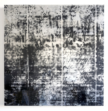 36 by 36 (small black bubble), 2015