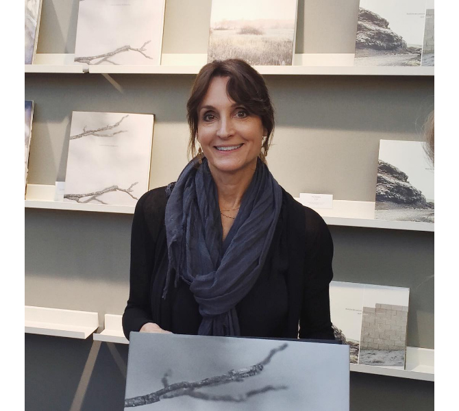 Linda Foard Roberts at her book launch during Paris Photo.