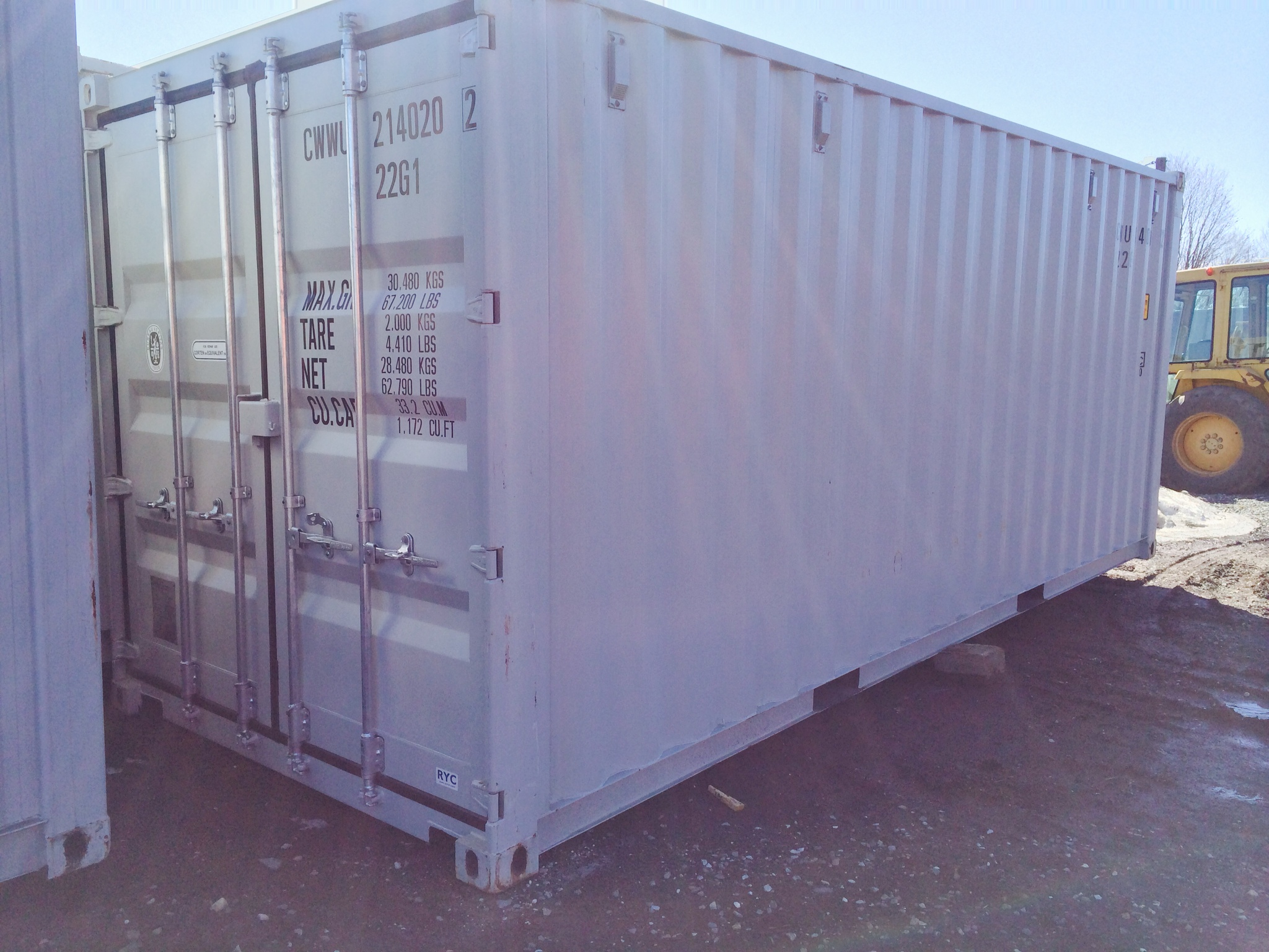 New 20' Storage Container, used one trip, with lock box safety, delivered locally. - Call For Pricing