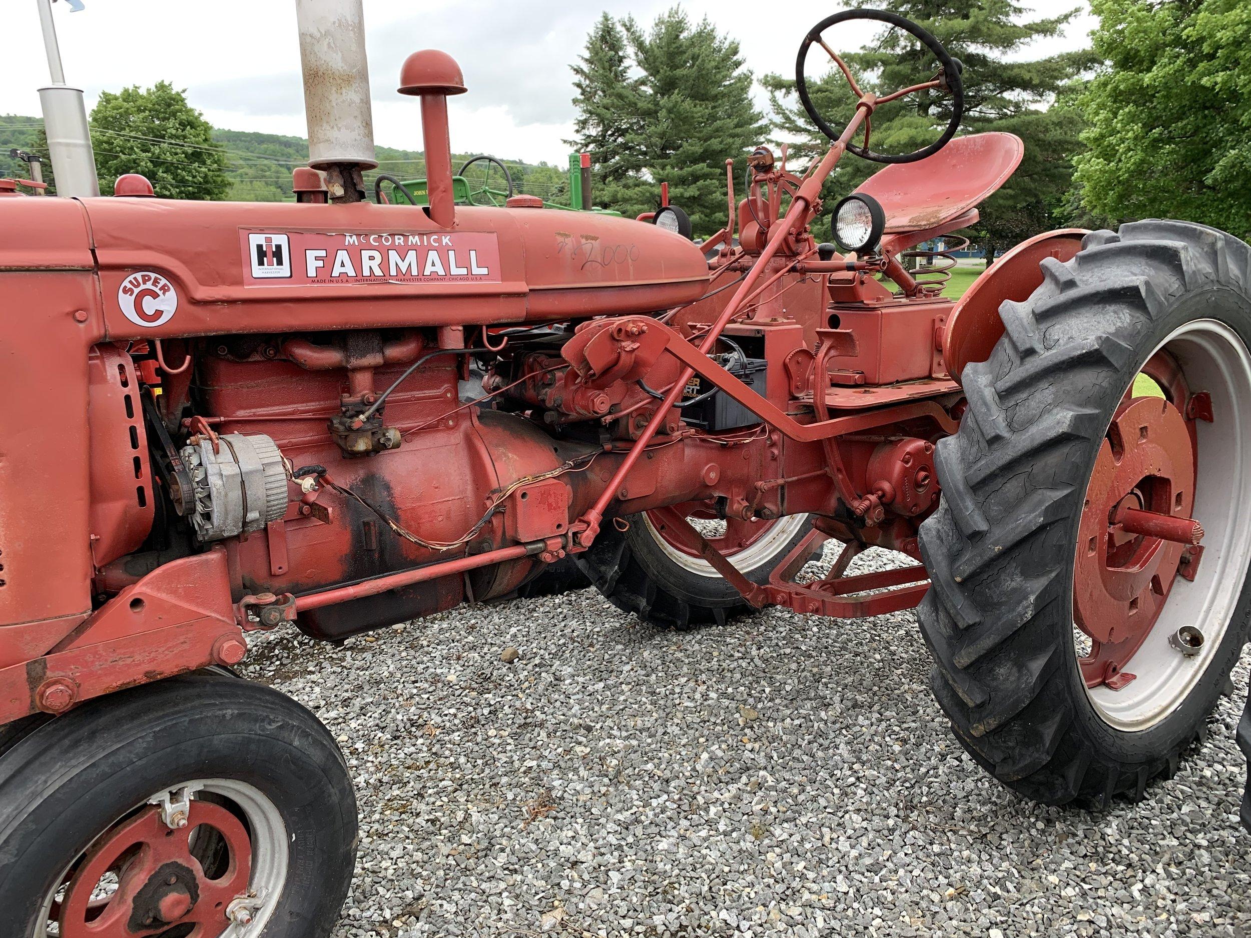 Farmall Super C Tractor $2,000