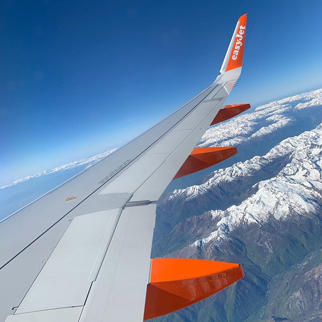 Flying over the Alps this morning 😍  The view from the plane was beautiful, although I could have done without the 2am start... Now to explore! Any tips for things to do in Milan?!