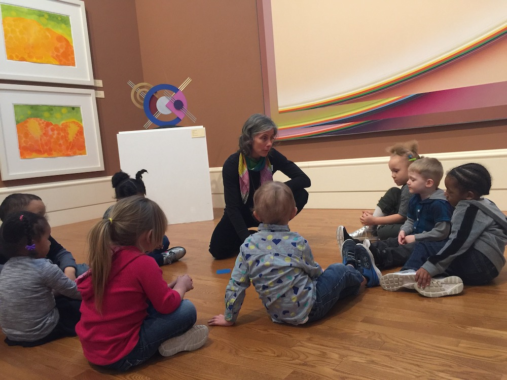 Preschoolers visit the Springfield Museum of Art with their grant funding.