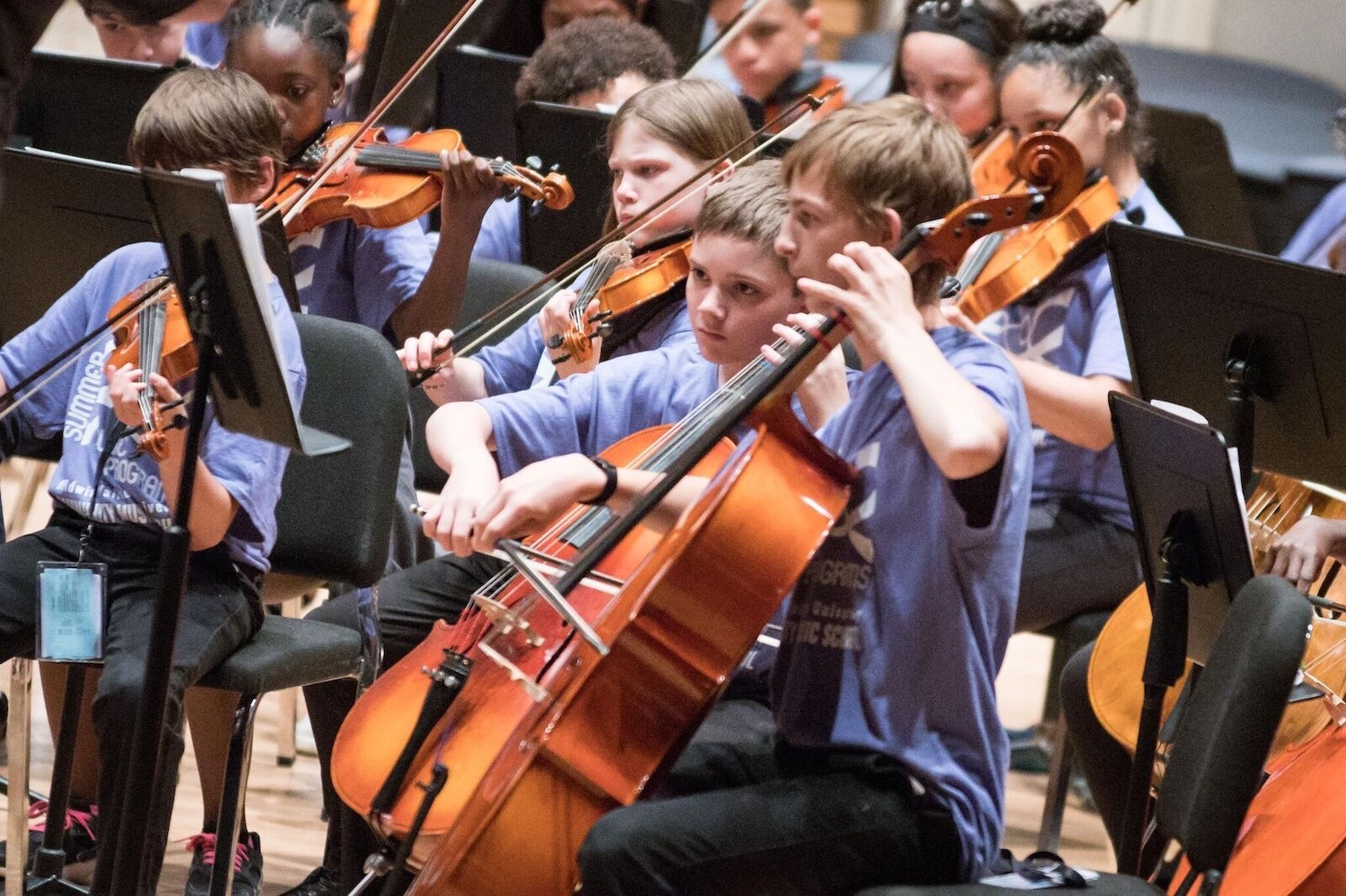MHJF helped fund a youth orchestra program working in connection with the public school system.