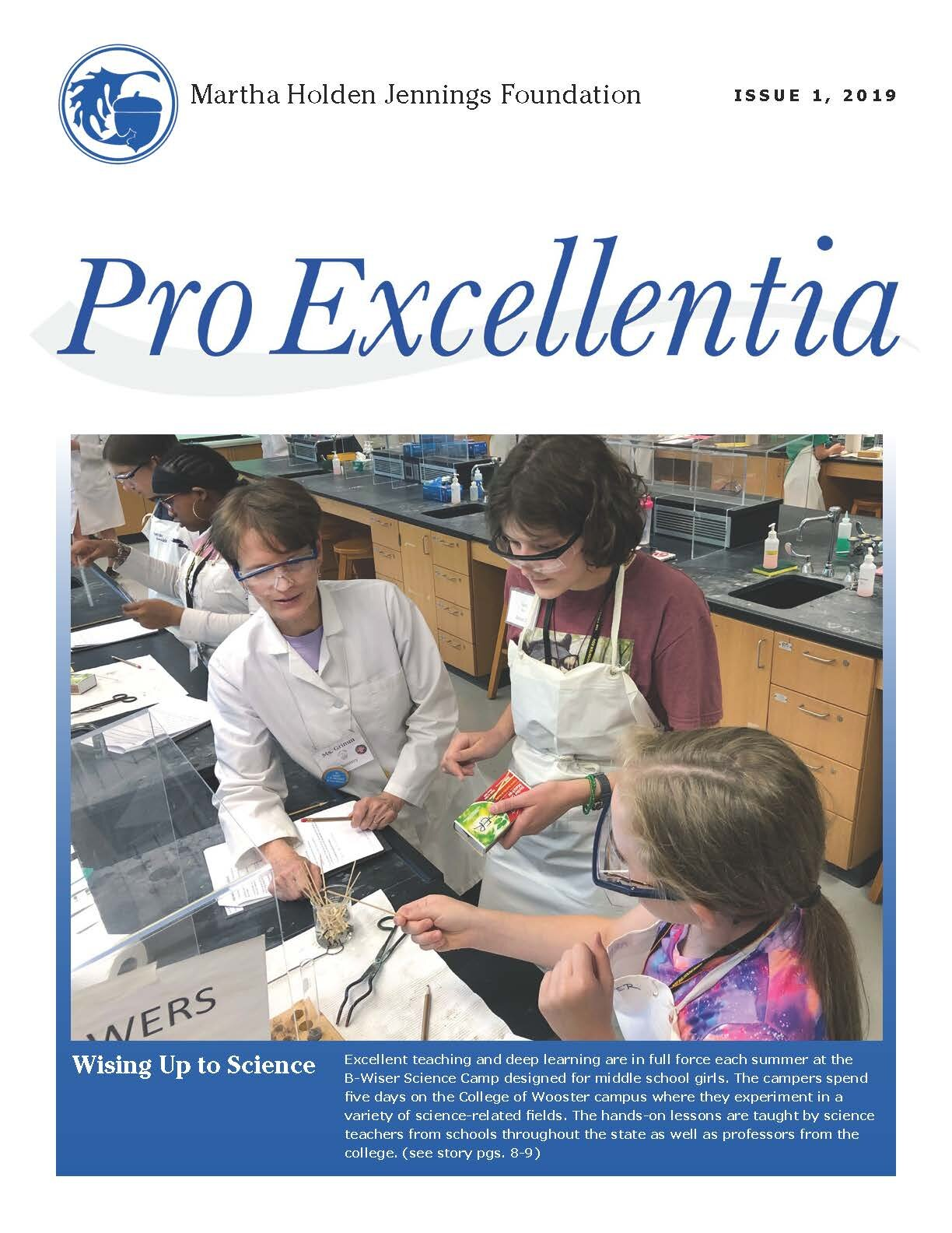 Volume 1 Cover of the ProExcellentia 2019 issue.