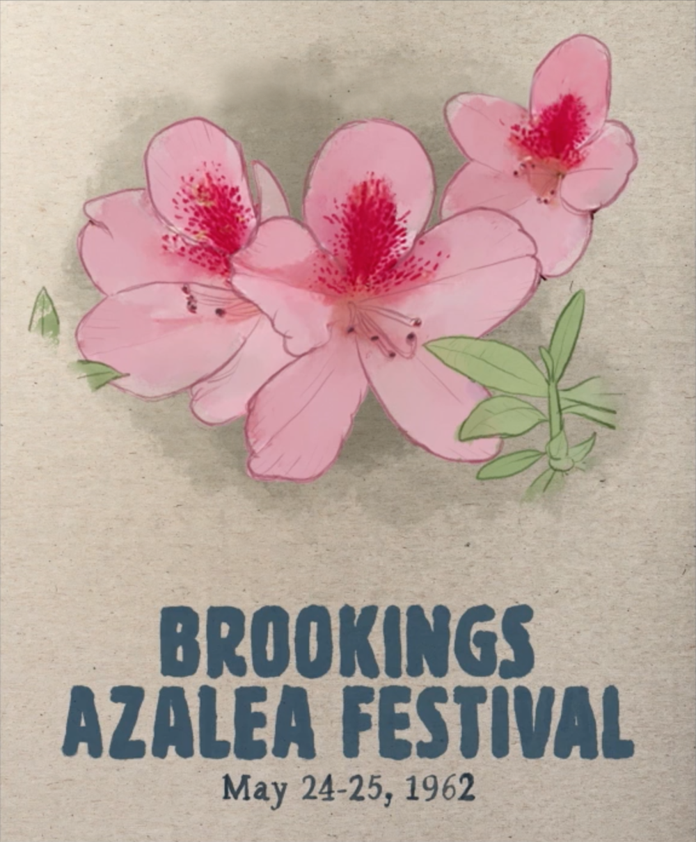Illustration:  Poster for the Brookings Azalea Festival (Illustration by Zak Margolis)