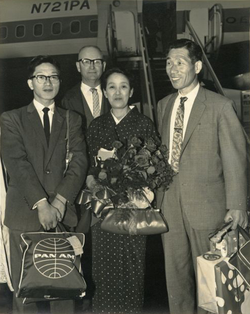 Copy of Mayor Campbell Greets Fujita and Family at Portland International Airport