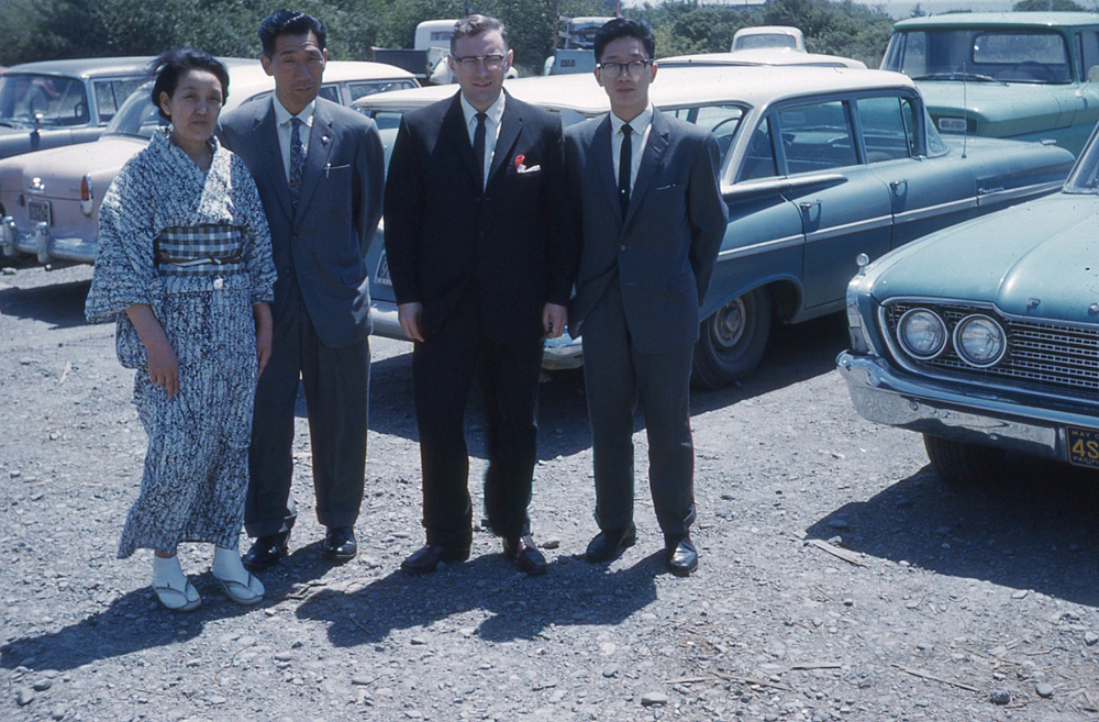 Fujita Family with Jaycee Bill McChesney in Brookings, 1962