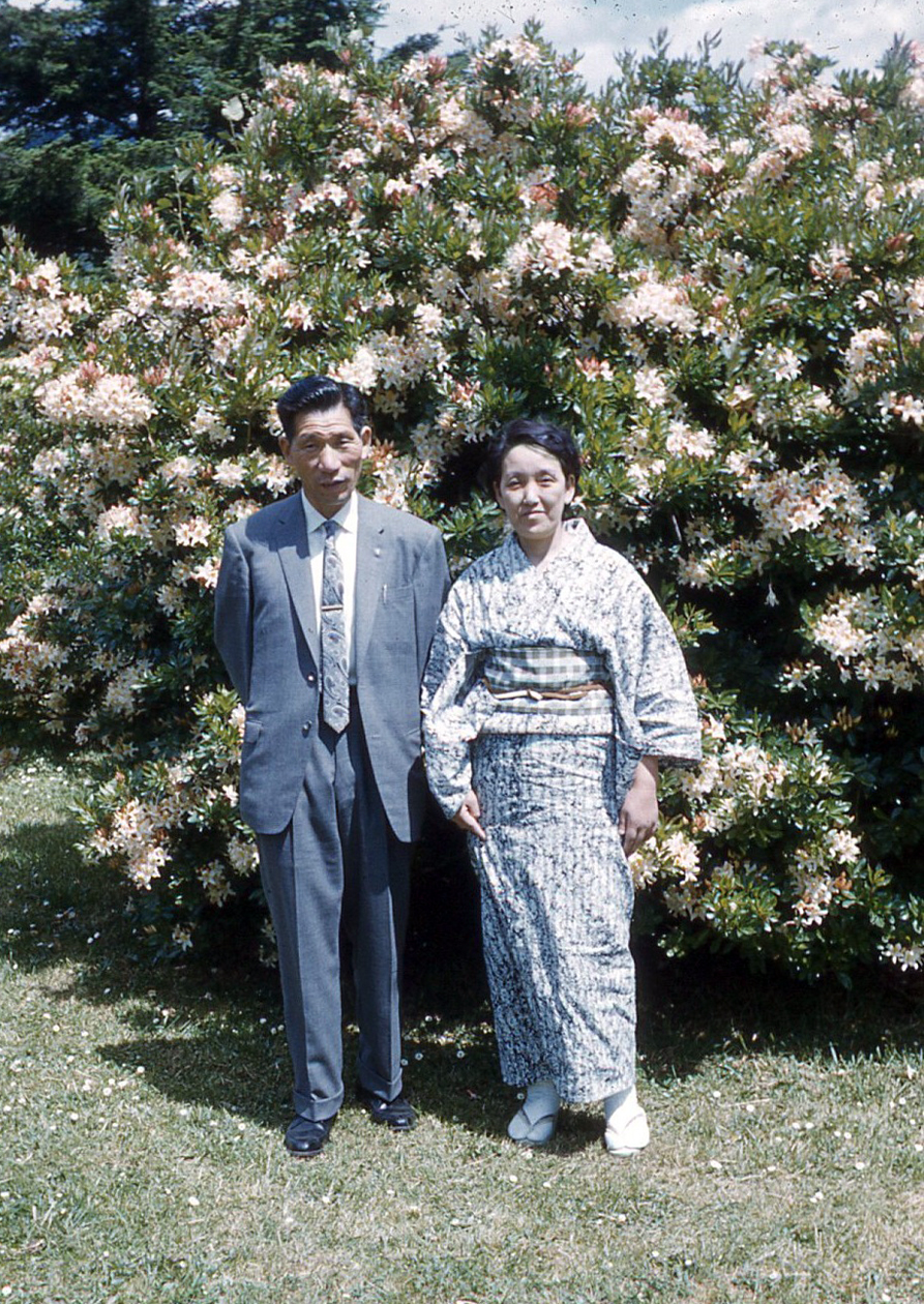 Mr. and Mrs. Fujita at the Azalea Festival, 1962