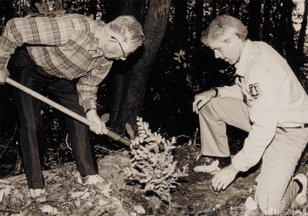 Copy of Fujita Planting the Redwood Peace Tree