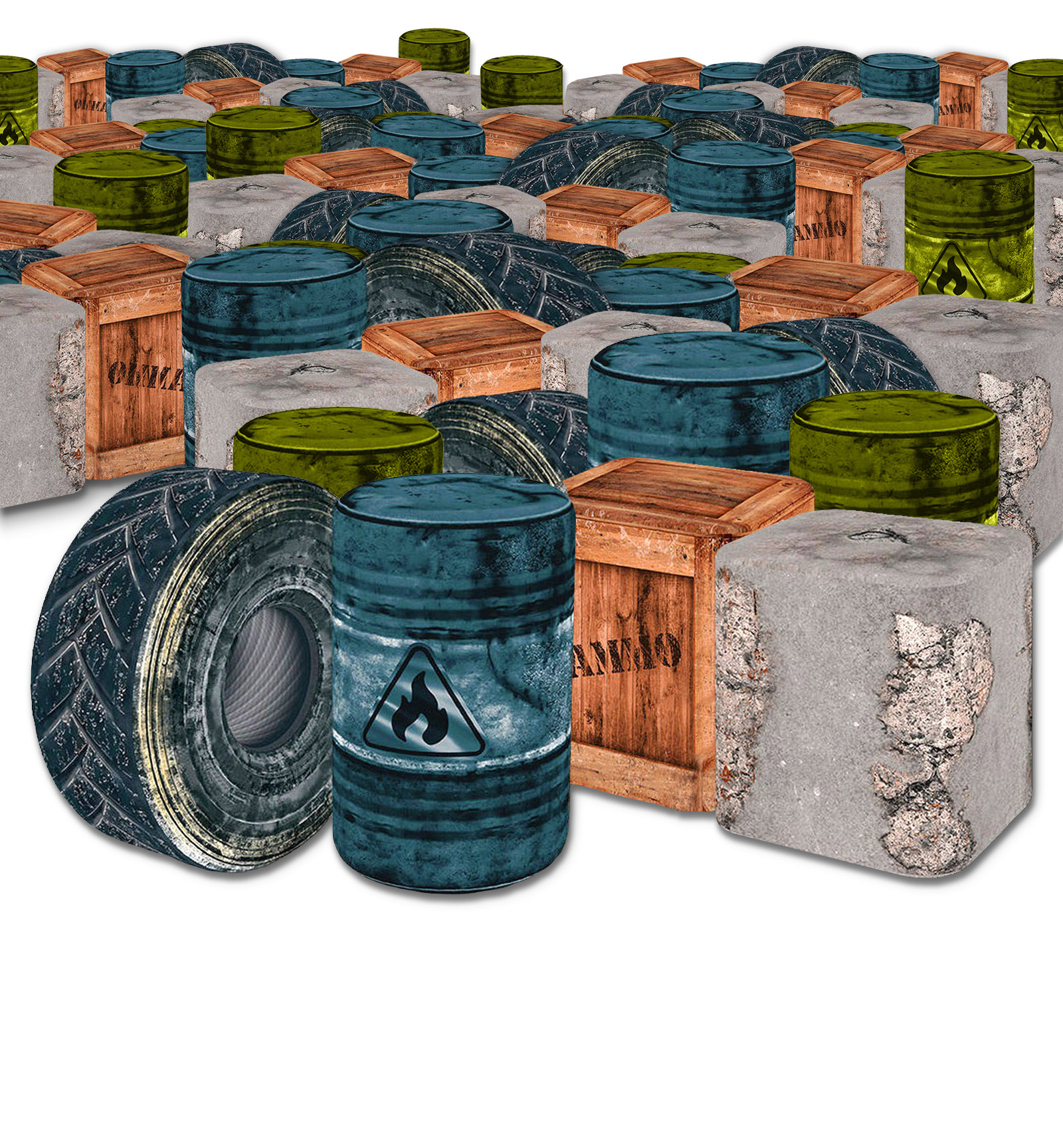 Barriers | Supplies used in our Fortnite Parties