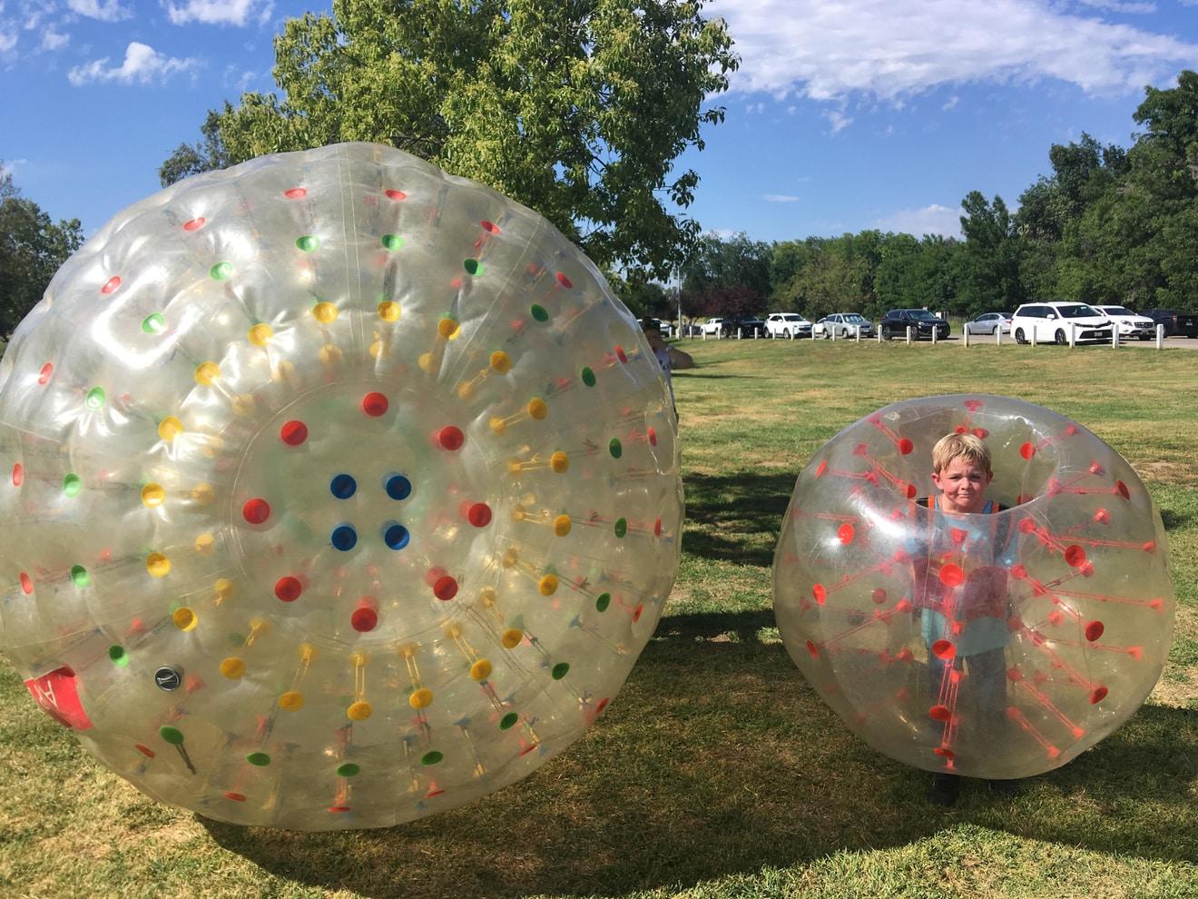 Zorb Ball vs Bubble Ball