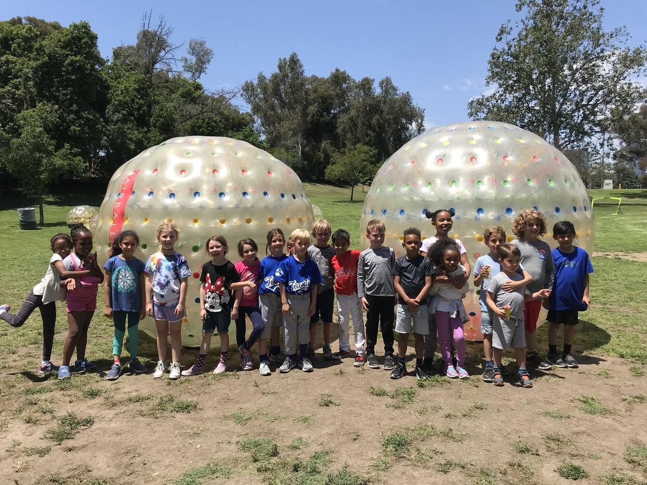 Group Photo after a Zorbing Party