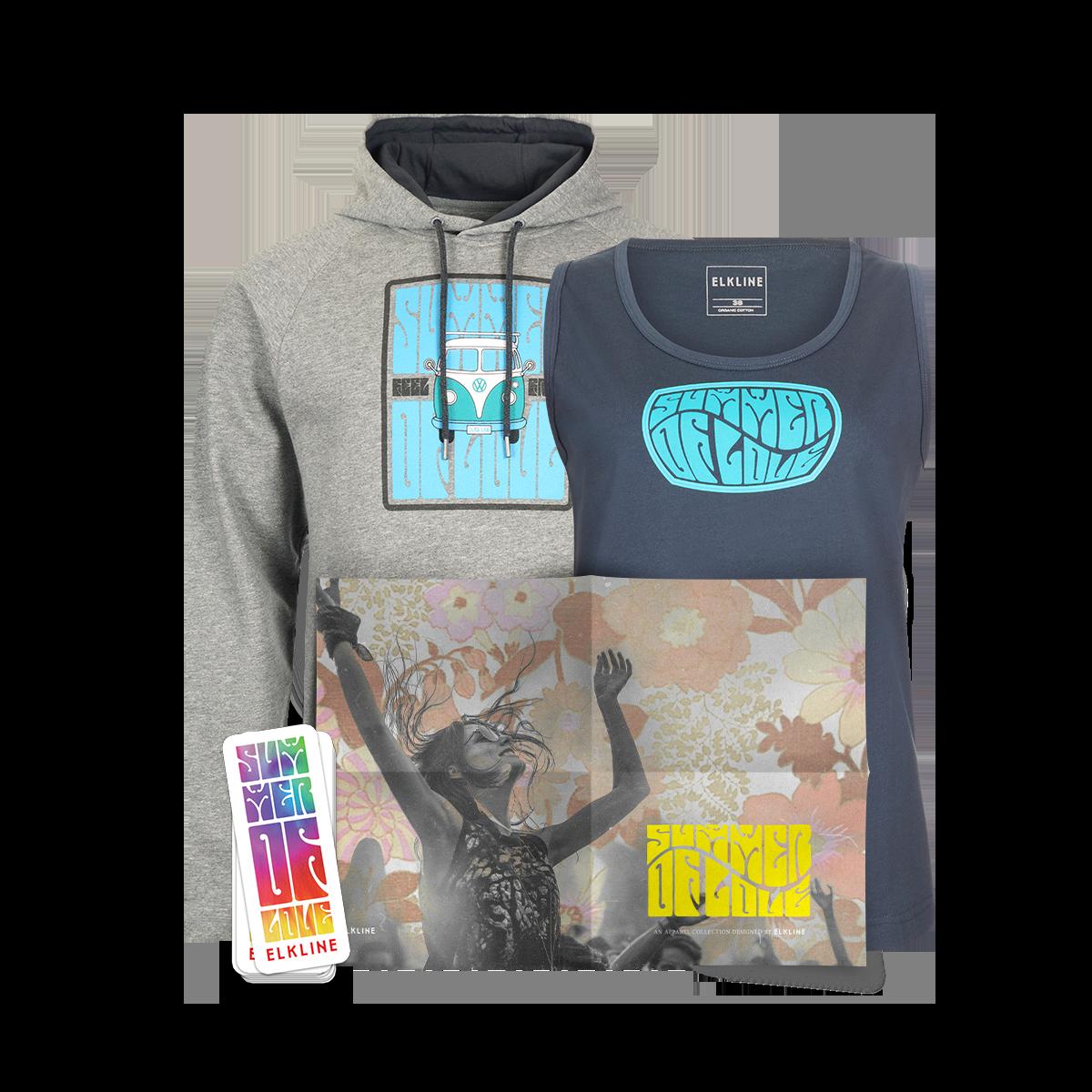 Trage dich zum Newsletter ein und mache am Gewinnspiel mit. Zu gewinnen gibt es das ultimative Summer of Love Set, bestehend aus Sweater, T-Shirt, Poster und Sticker.