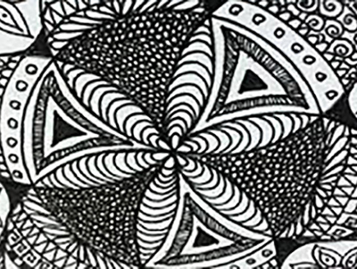 Zentangle meditative design