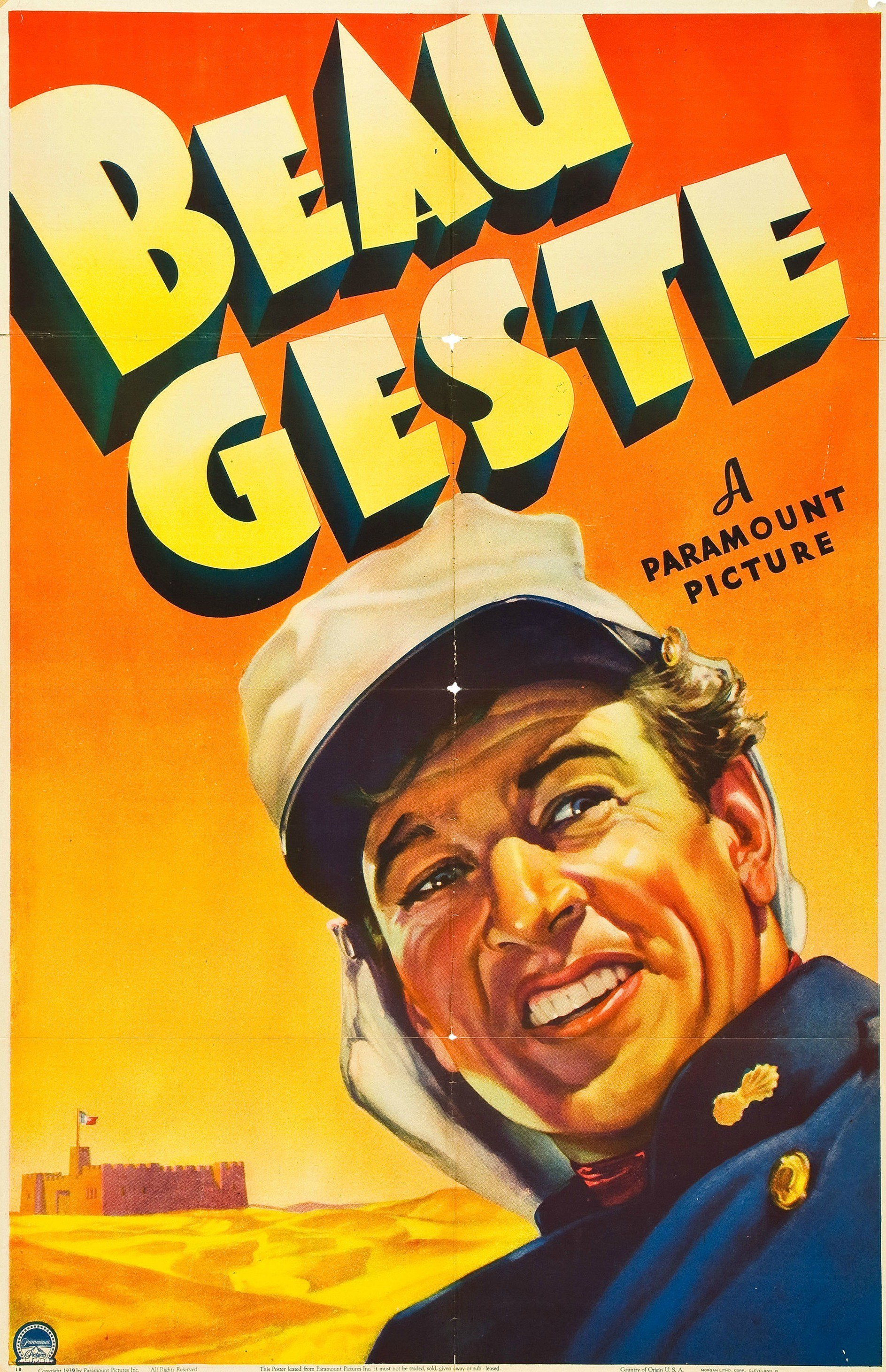 - Academy Award winners Gary Cooper and Ray Milland star along with Robert Preston in the epic adventure Beau Geste. When three brothers join the Foreign Legion to escape a troubled past, they find themselves trapped under the command of a sadistic sergeant deep in the scorching Sahara. Now the brothers must fight for their lives as they plot mutiny against tyranny and defend a desert fortress against a brutal enemy. Nominated for 2 Academy Awards, Beau Geste has been universally acclaimed by generations of critics and audiences alike as a true motion picture classic.Beau Geste (1939) Directed by William A. Wellman. 112mins.Gary Cooper - Beau GesteRay Milland - John GesteRobert Preston - Digby GesteBrian Donlevy - Sergeant MarkoffAlso starring Susan Hayward, J. Carrol Naish, Albert Dekker and Broderick Crawford.Based on the classic adventure novel by P.C. Wren, first published in 1924.One of Coop's most famous films.Oscar nominations for Best Supporting Actor (Brian Donlevy) and Best Art Direction.Tagline - AGAIN...the three Gestes face a thousand dangers of the Sahara for each other...and love!