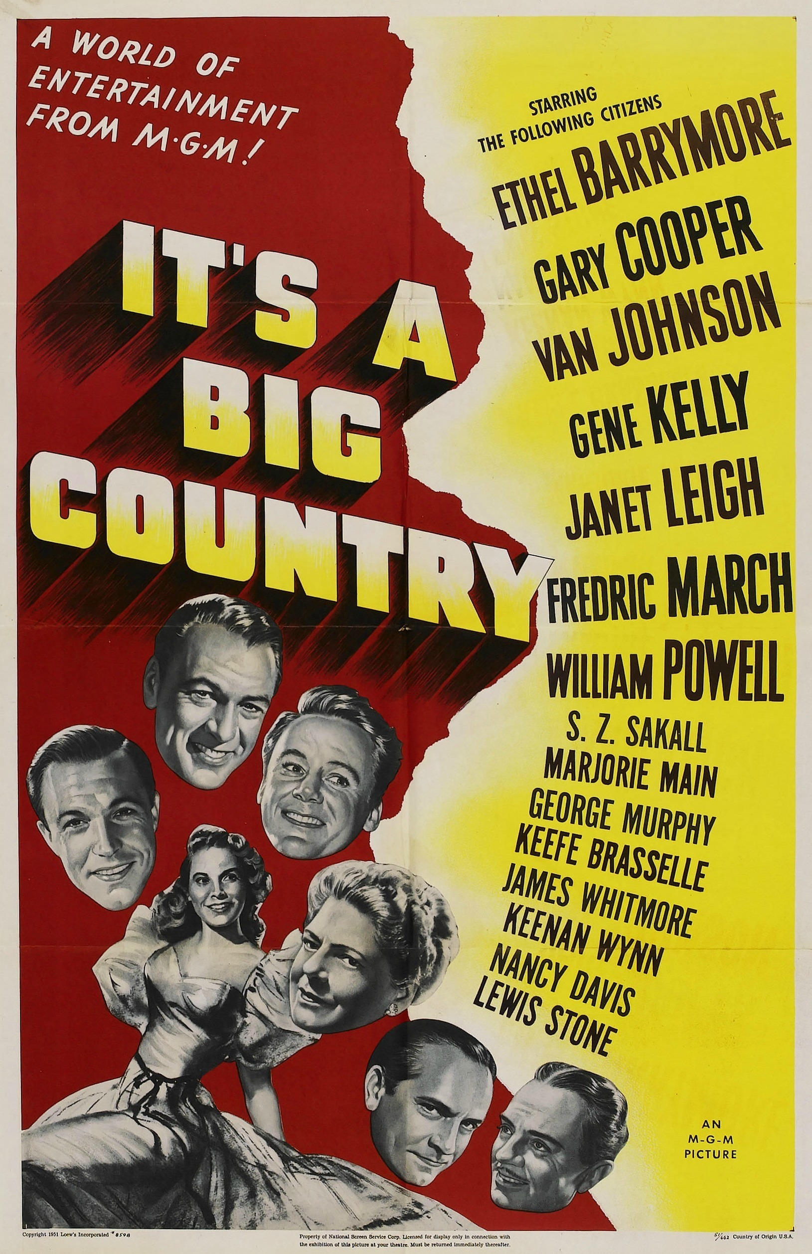 - Comprised of eight unrelated episodes of inconsistent quality, this anthology piece of American propaganda features some of MGM Studios' best directors, screenwriters and actors; it is narrated by Louis Calhern. Stories are framed by the lecture of a university professor. In one tale a Boston resident becomes angry when the census forgets to record her presence. Another sketch chronicles the achievements of African Americans while still another pays tongue-in-cheek tribute to Texas.19511 h 29 min