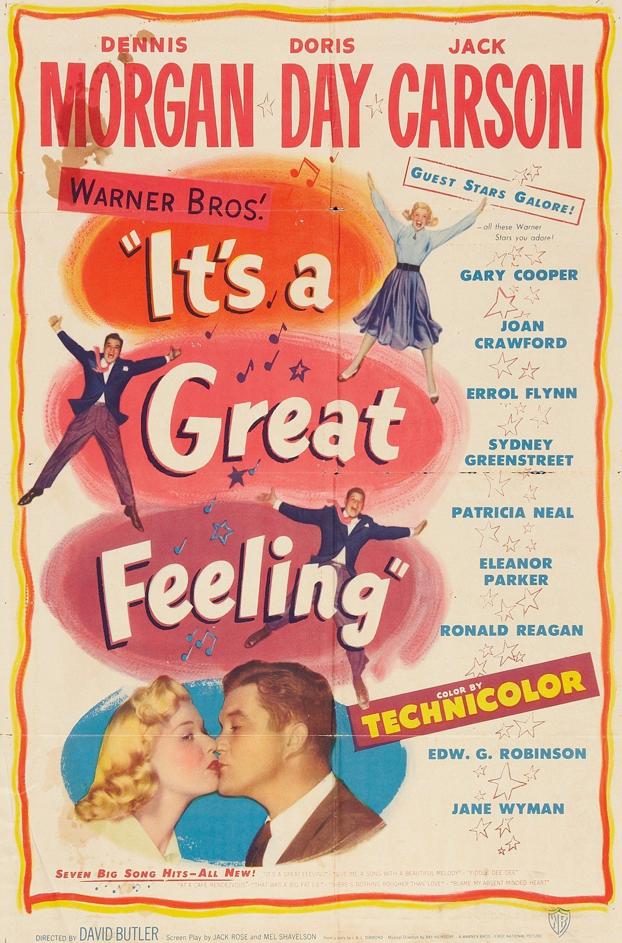 - A waitress at the Warner Brothers commissary is anxious to break into pictures. She thinks her big break may have arrived when actors Jack Carson and Dennis Morgan agree to help her.19491 h 25 min