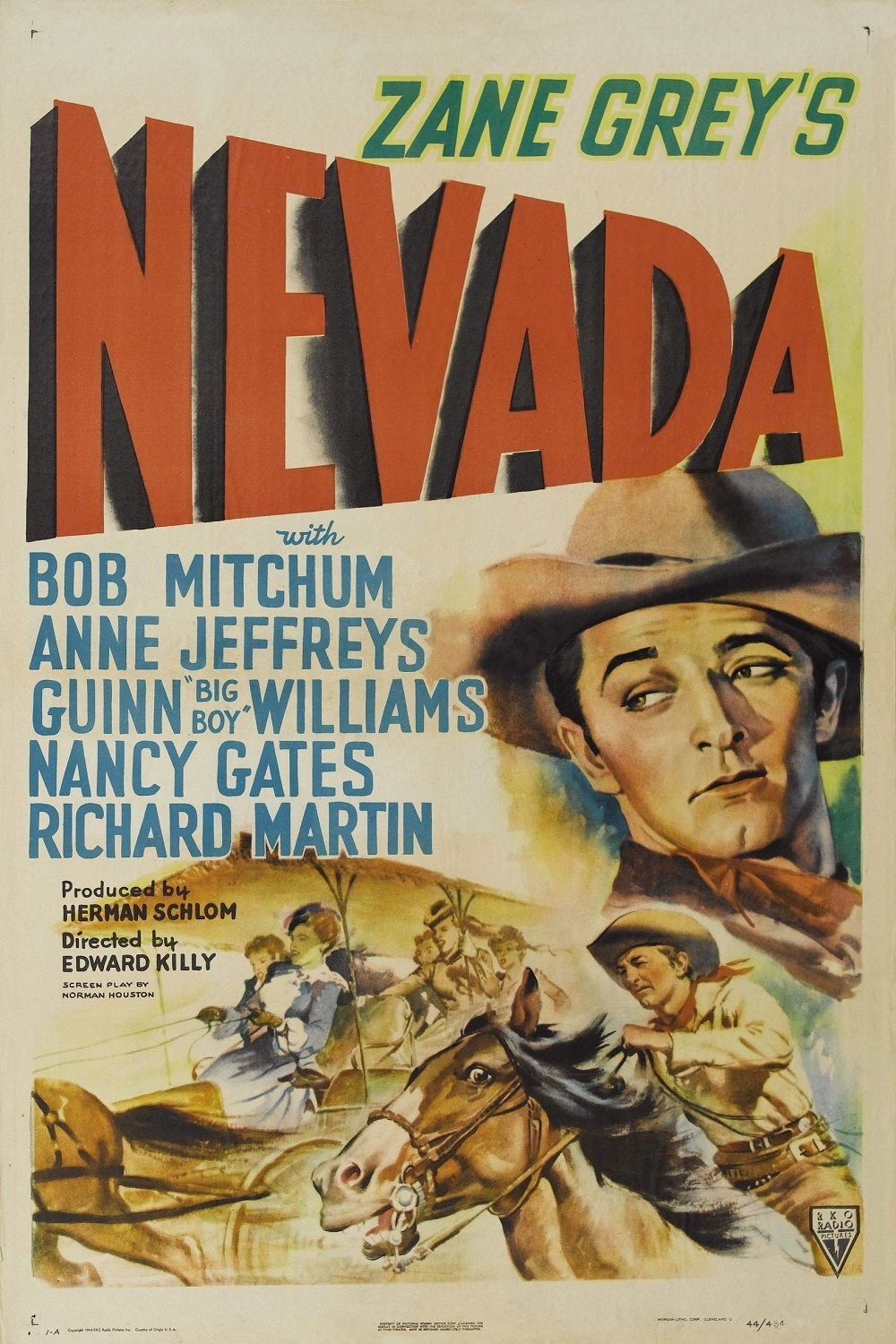 - Just as Nevada wins $7000 in yellowback bills, Ben Ide takes his $7000 and heads out to buy mining equipment. Burridge has his man Powell kill Ide and retrieve the money and Nevada finds Ide just as the posse arrives. Found with the money Nevada is arrested and Burridge now gets Powell to incite the local citizens to lynch Nevada.19441 h 02 min