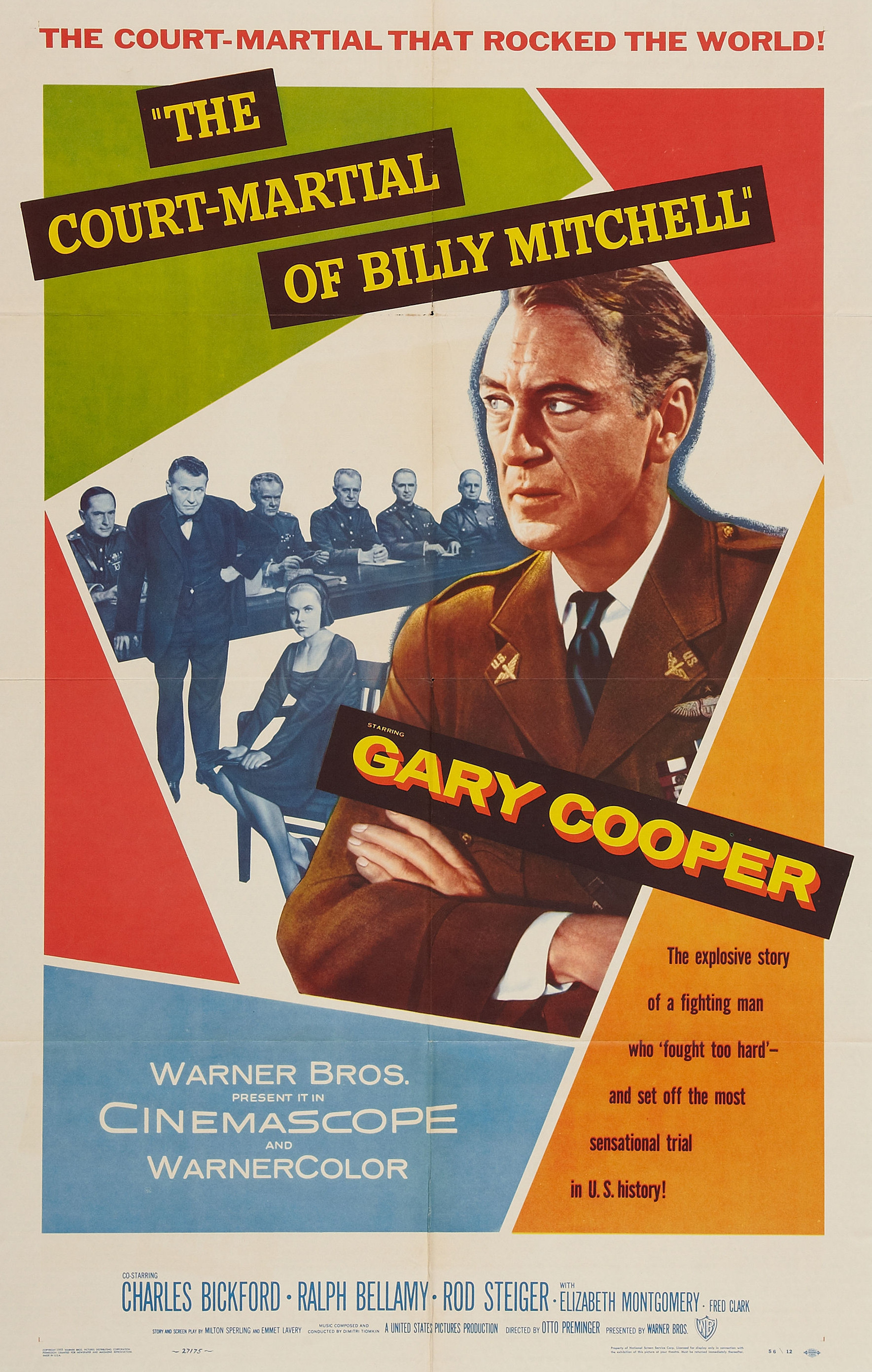 - A dramatization of the American general and his court martial for publically complaining about High Command's dismissal and neglect of the aerial fighting forces.19551 h 40 min