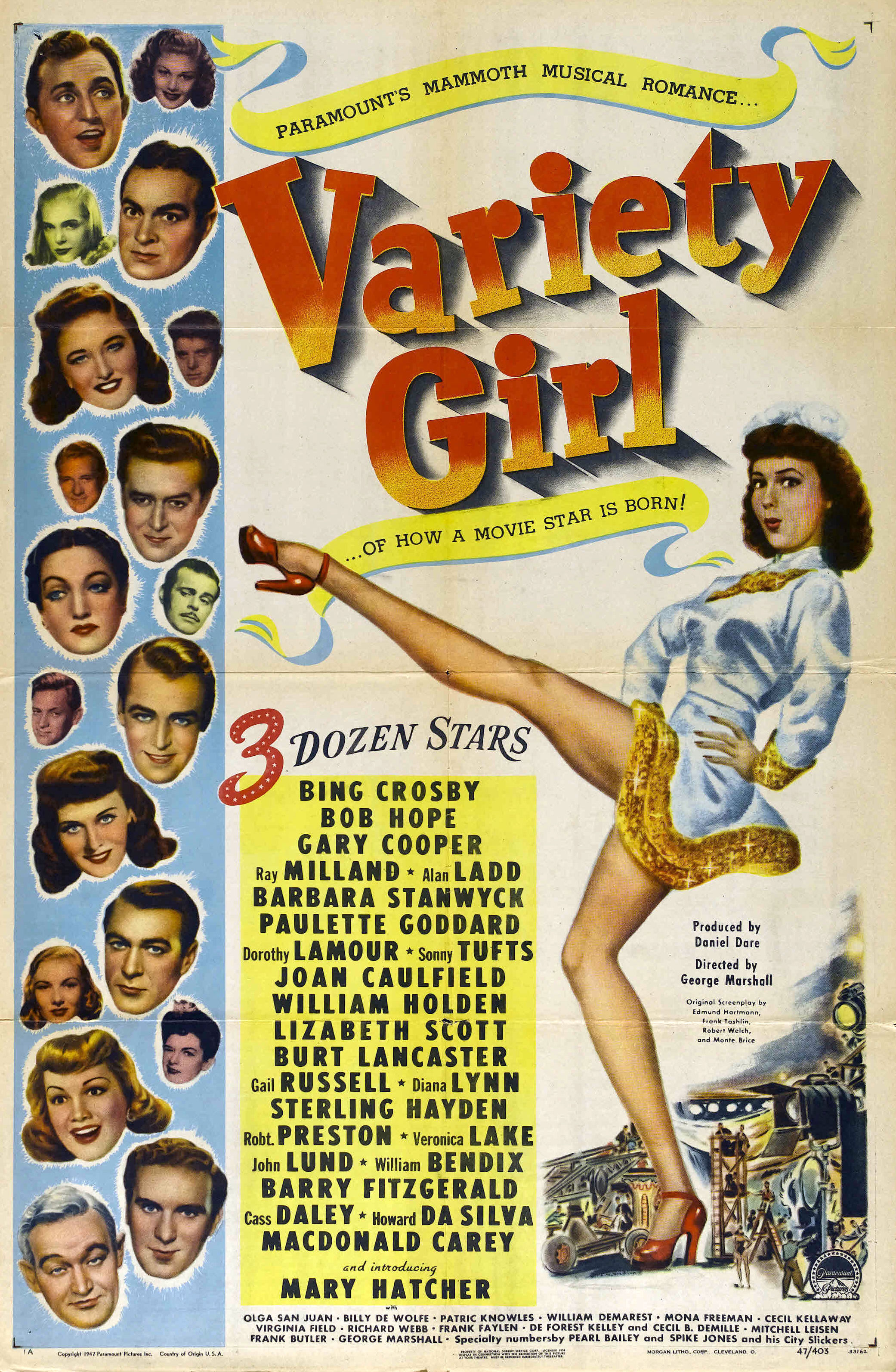 - Dozens of star and character-actor cameos and a message about the Variety Club (a show-business charity) are woven into a framework about two hopeful young ladies who come to Hollywood, exchange identities, and cause comic confusion (with slapstick interludes) throughout the Paramount studio.19471 h 33 min
