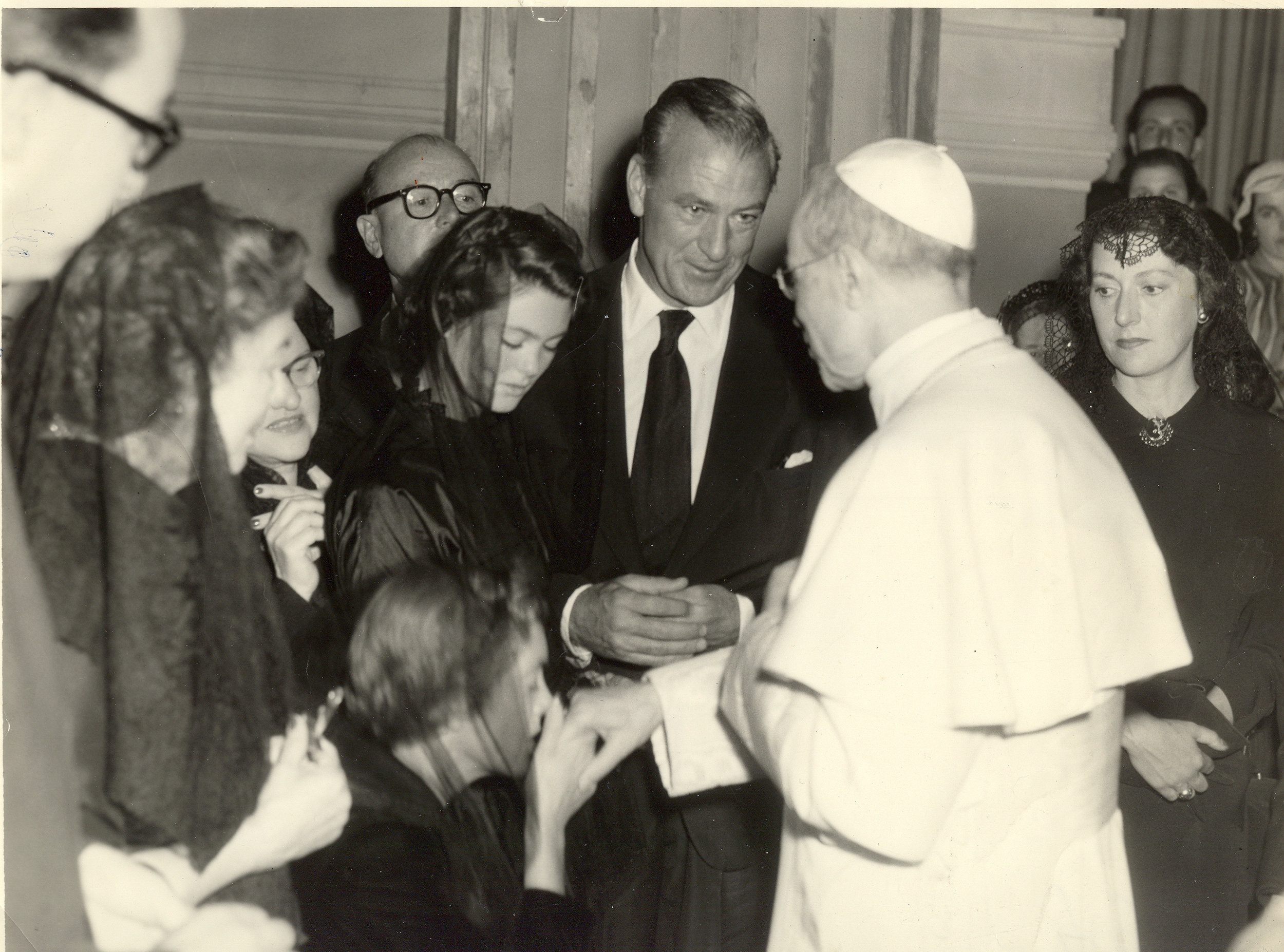 - A special moment in all our lives—an audience with Pope Pius the 12th.