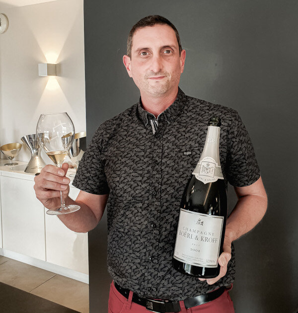 Julien Miquel, Alti Wine Exchange Chief Wine Officer, tasting Boërl & Kroff Champagne