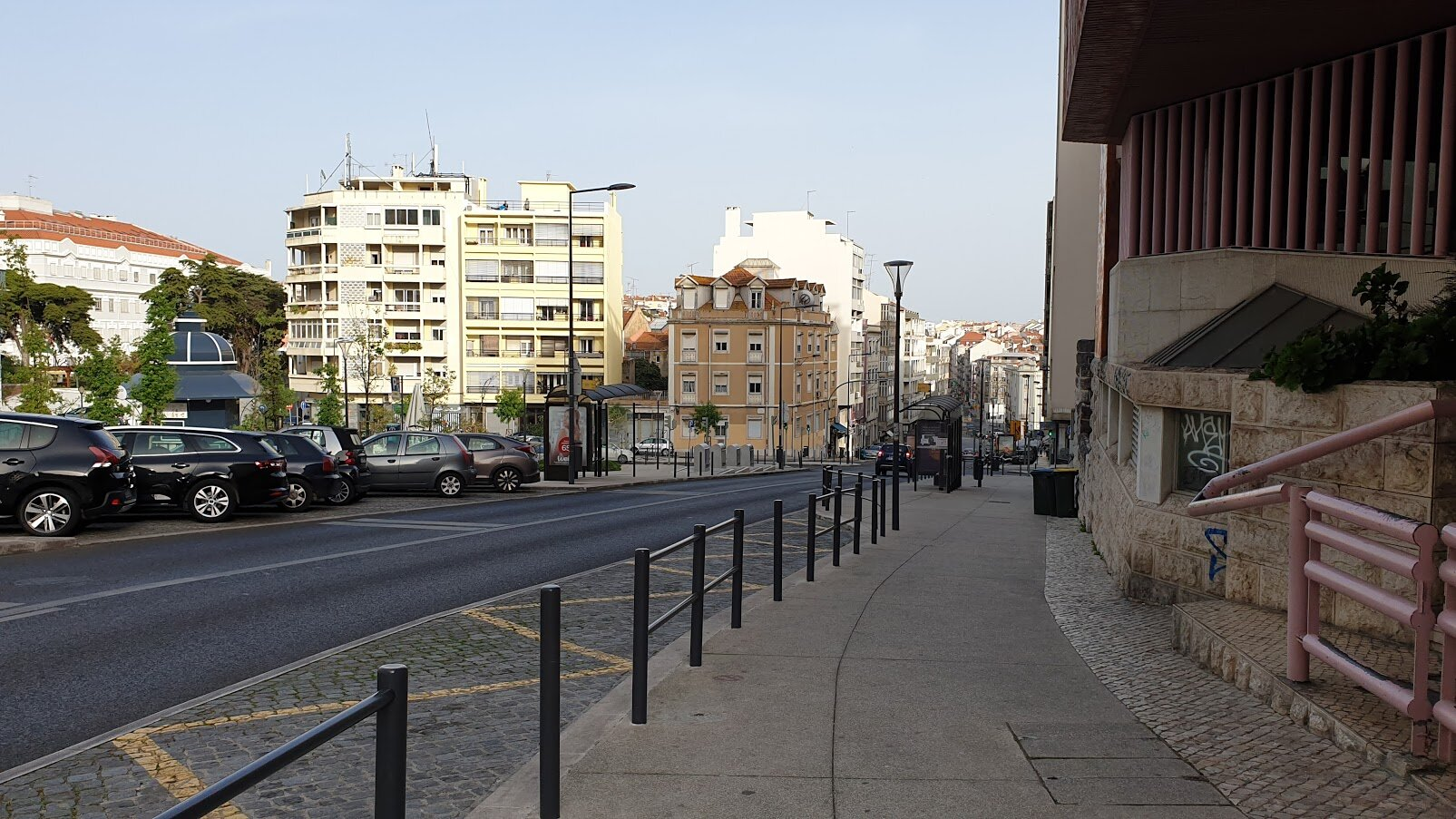 Deserted streets in Lisbon, March 18, 2020