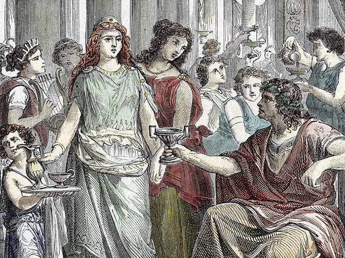 Galla Placidia (390-450), daughter of Roman Emperor Theodosius I, in captivity