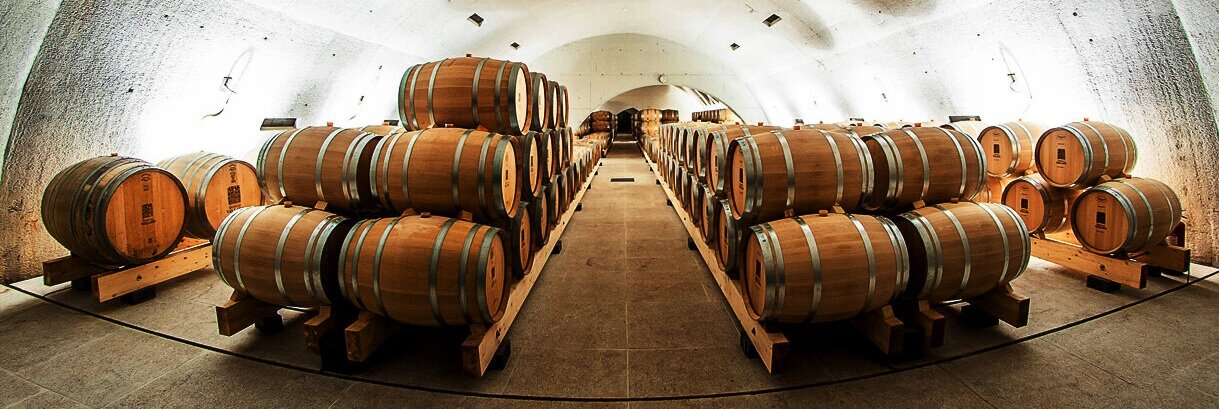 A few of Quinta do Vallado barrels. Portuguese wine brands offer exceptional century-old wines