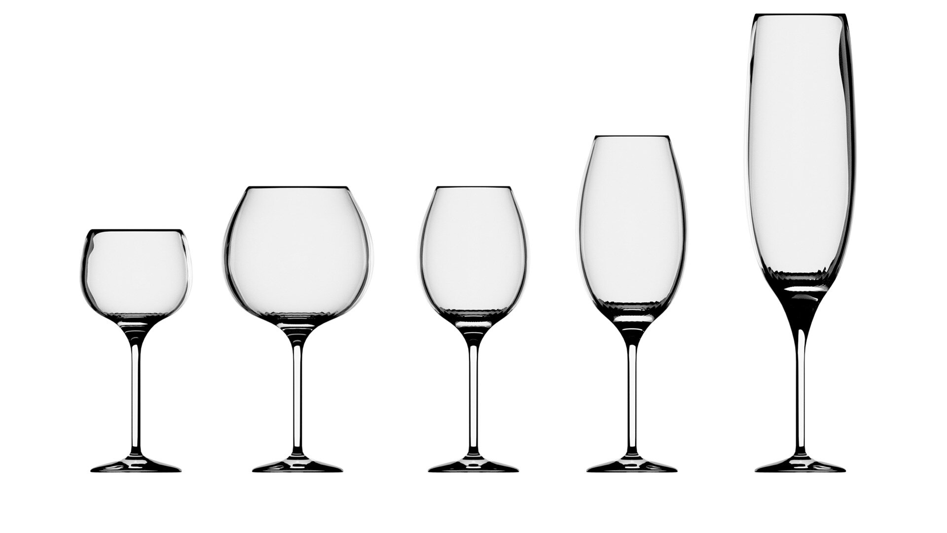 Different shapes, different experiences in wine tasting (photo credit to Shrarad Jadvani, Pixabay)
