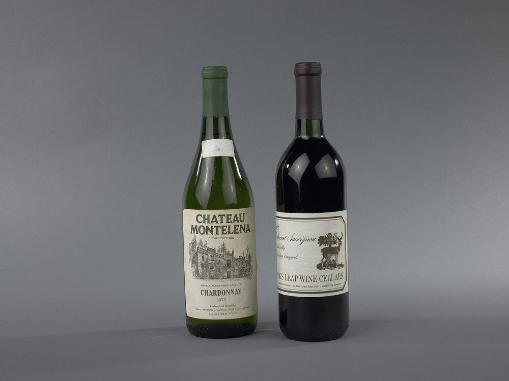The Californian highlights of the iconic 1976 Judgment of Paris, that held US wines as real contenders to French vintages (photo credit: Museum of American History - Smithsonian Institution)