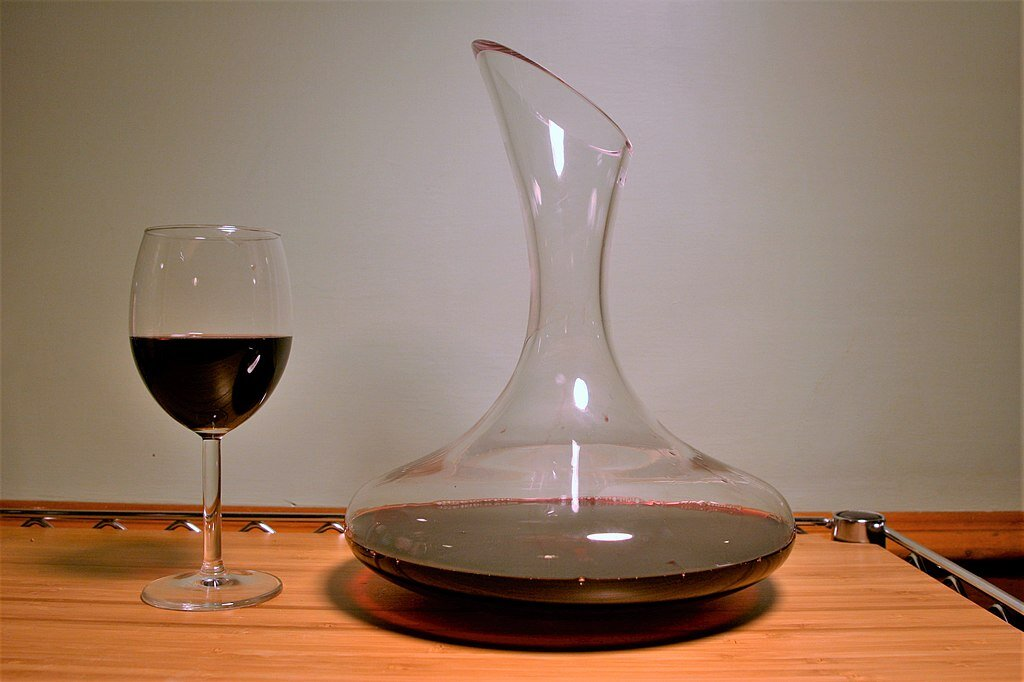 Decanting is great for young, tannic wines, but it's not something universal.  (Photo by Geoff Parsons)
