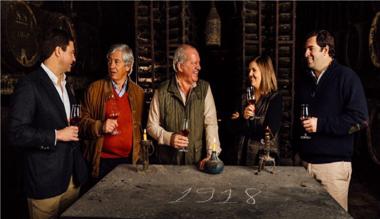 The Soares Franco family, 6th and 7th generations gathered, tasting JMF's ever delicious Moscatel