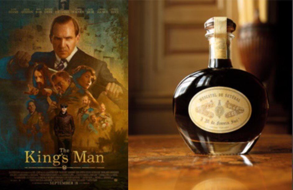 'The King's Man' official poster and the replica of the Moscatel 1919 by José Maria da Fonseca that is featured on the film