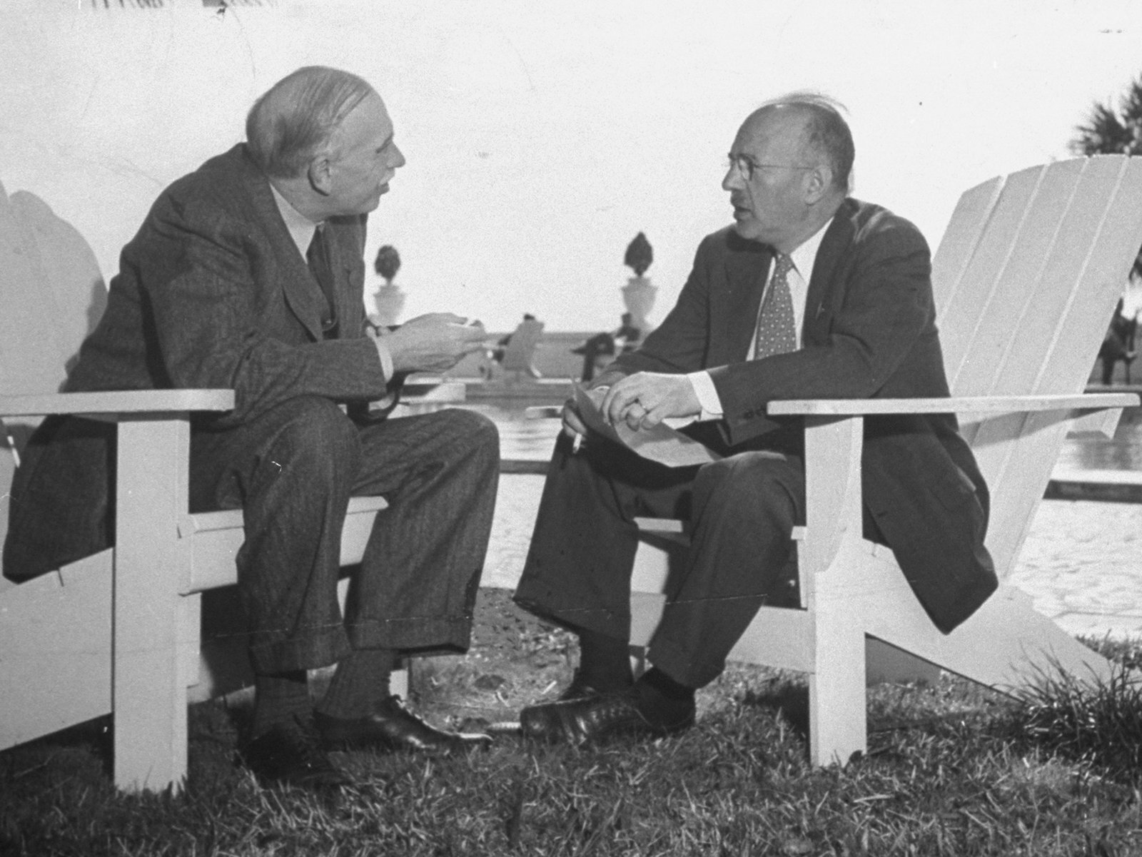 Keynes and White, Bretton Woods (Thomas D. McAvoy, Life Collection)