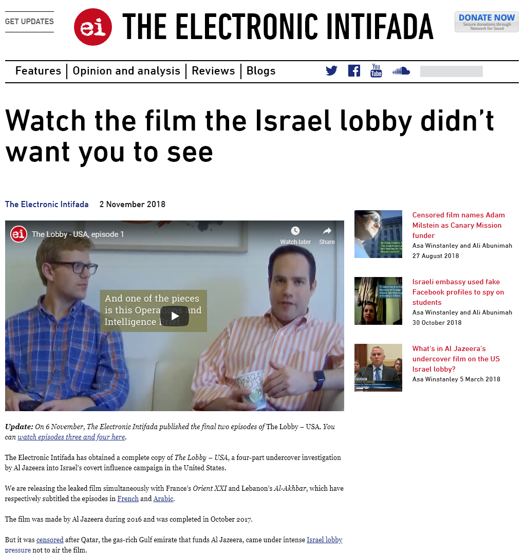 The Lobby (US) - Al Jazeera