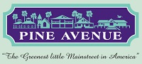 Pine Avenue Logo. Pine Avenue is a historic boutique business district on Anna Maria Island.