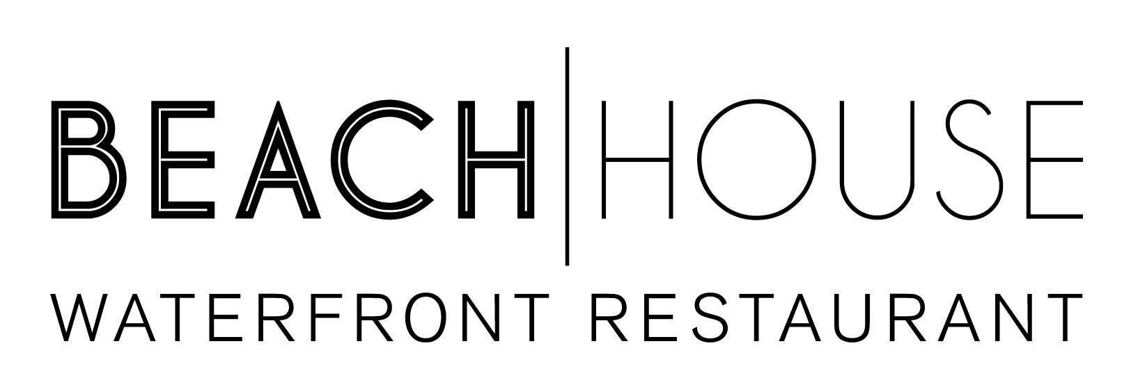 The Beach House Waterfront Resturant's modern and clean logo.