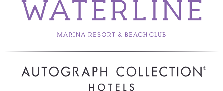 The Waterline logo. The Waterline is a Marina Resort and Beach Club on Anna Maria Island.
