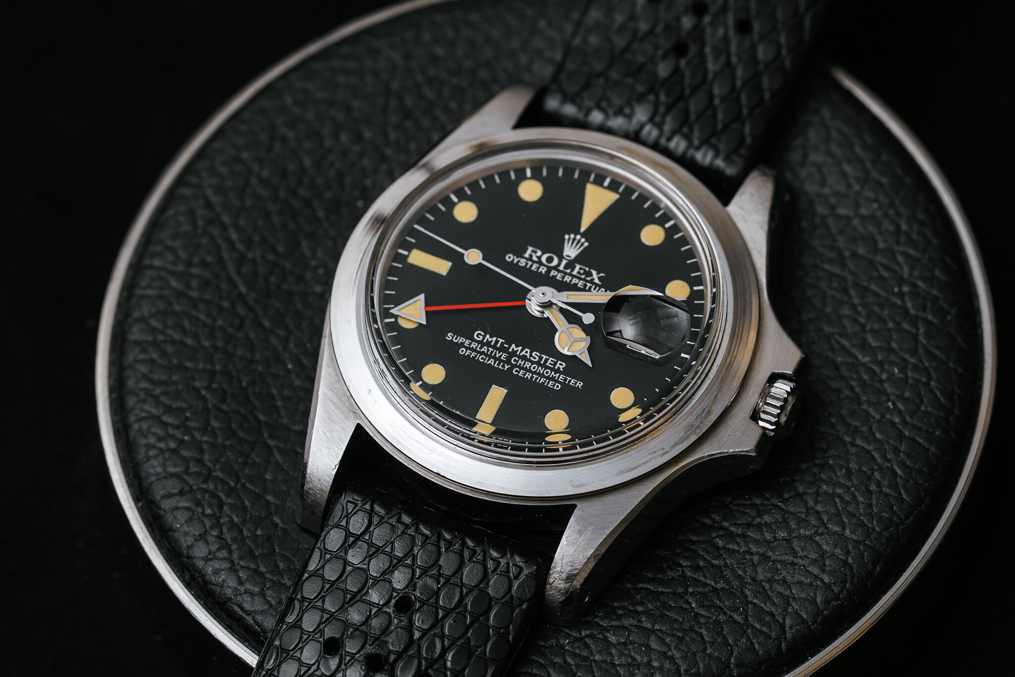 Marlon Brando's Rolex GMT Master ref. 1675 is in shockingly good condition. Outside of wearing it for the filming of  Apocalypse Now  in 1978, Brando only wore it on special occasions before gifting it to his daughter in 1995.